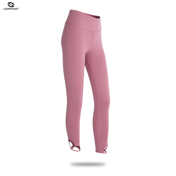 126cbafe3d9b7 High Waisted Compression Tights Girls Pink Fitness Trousers Custom Logo Cut  Out Leggings