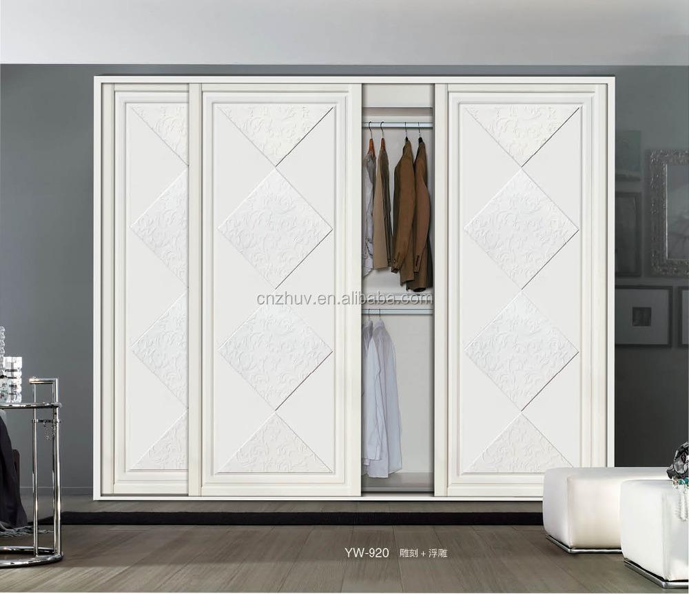 Pas cher garde robe de chambre porte coulissante en bois for Meuble porte coulissante pas cher