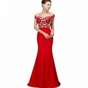 Mermaid party Sweetheart Neck Red Women Evening Gown
