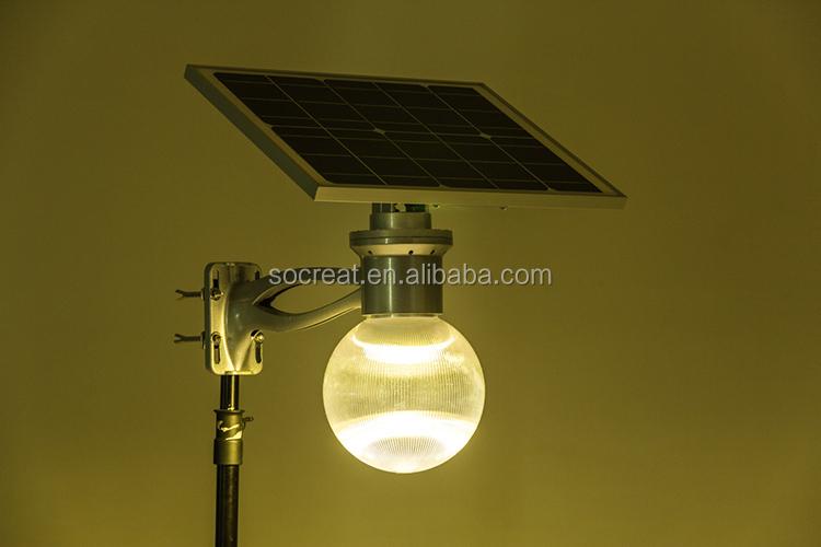 Integrazione di energia solare illuminazione stradale a led