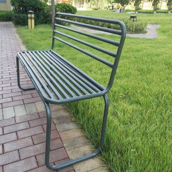 Green Painting Cast Iron Japanese Park Seat Garden Benches
