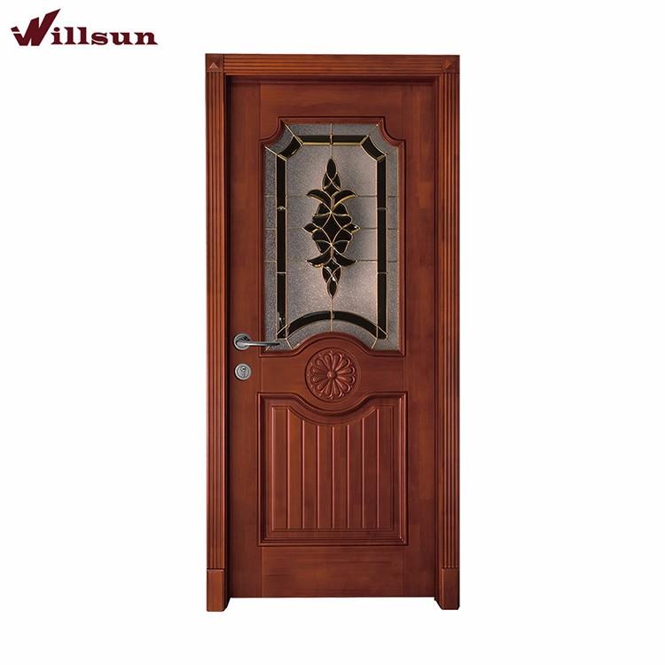 Kitchen Used Solid Wood Luxury Half Gl Swing Door Designs