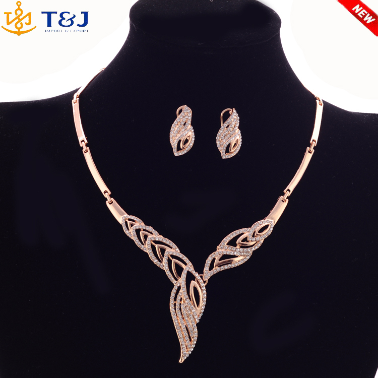 >>>>Gold Plated Fashion Jewelry Set For Women Collar Necklace Earrings Bracelet Rings Sets Costume Latest Fashion Accessories