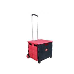 Low-price Platform Push Cart/Platform Hand Truck folding plastic crate trolley
