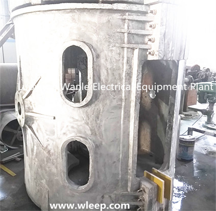 2T Aluminium Shell IF Induction Aluminium Melting Furnace