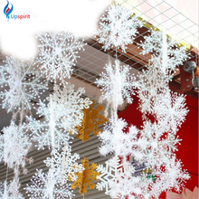 30Pcs/10pack White Snowflake Christmas Decortions For Home Christmas Tree Ornaments Holiday Festival Party Navidad Home Decor