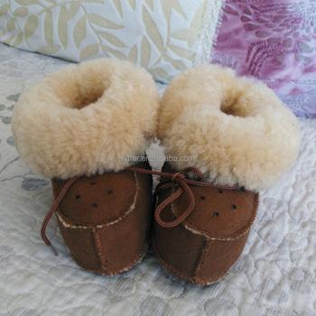 Babyschuhe echtes Lammfell Stiefel Set | Lammfell baby