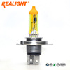 Yellow H4 Gold Car Headlight Halogen Bulb