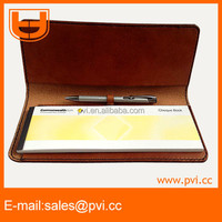 Customized Genuine Leather Business Cheque Book Holder