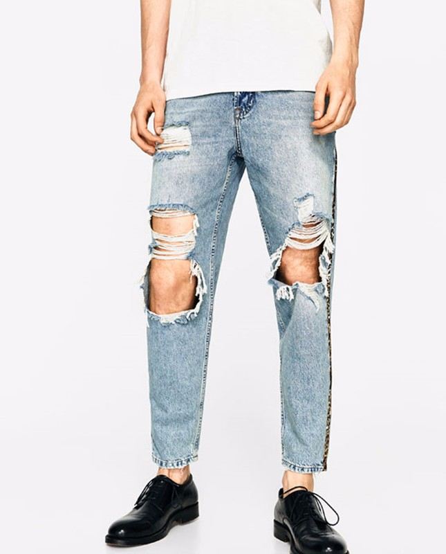 High Fashion Wholesale Damaged Top 10 Jeans Brands Men Custom Modern