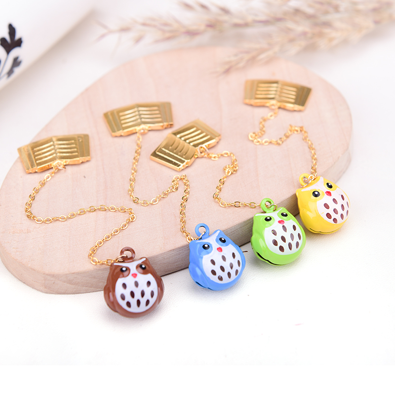 2016 New Design Languo Style Owl Design Zinc Alloy Pendant Bookmark LG-9537