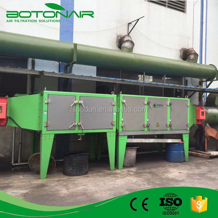 Electrostatic Greasey Air Extraction Device for Industrial Oily Spray Collection
