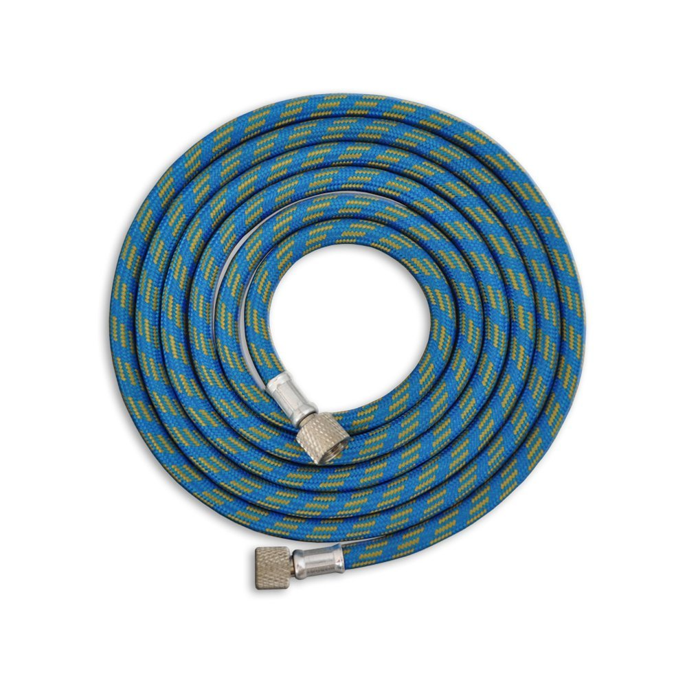 "Master Airbrush Premium 6 Foot Nylon Braided Airbrush Hose with Standard 1/8"" Size Fittings on Both Ends (Hose color may vary)"