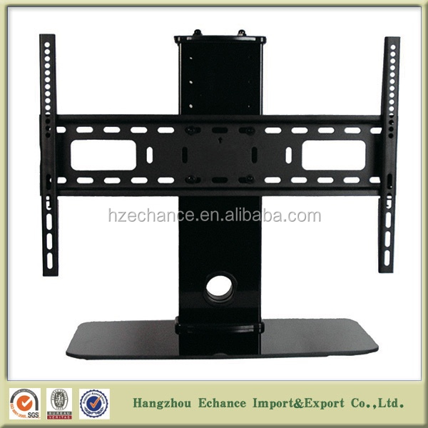 Modern Desktop Indoor Vertically Adjustable TV Mount With Stand And  Tempered Glass IN1002
