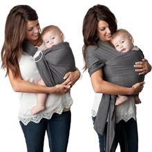 Amazon hot sale ergonomic lightweight breathable breastfeeding conveniently ring baby carry sling wrap carrier