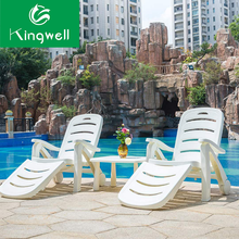Popular swimming pool used plastic sun loungers in cheap price