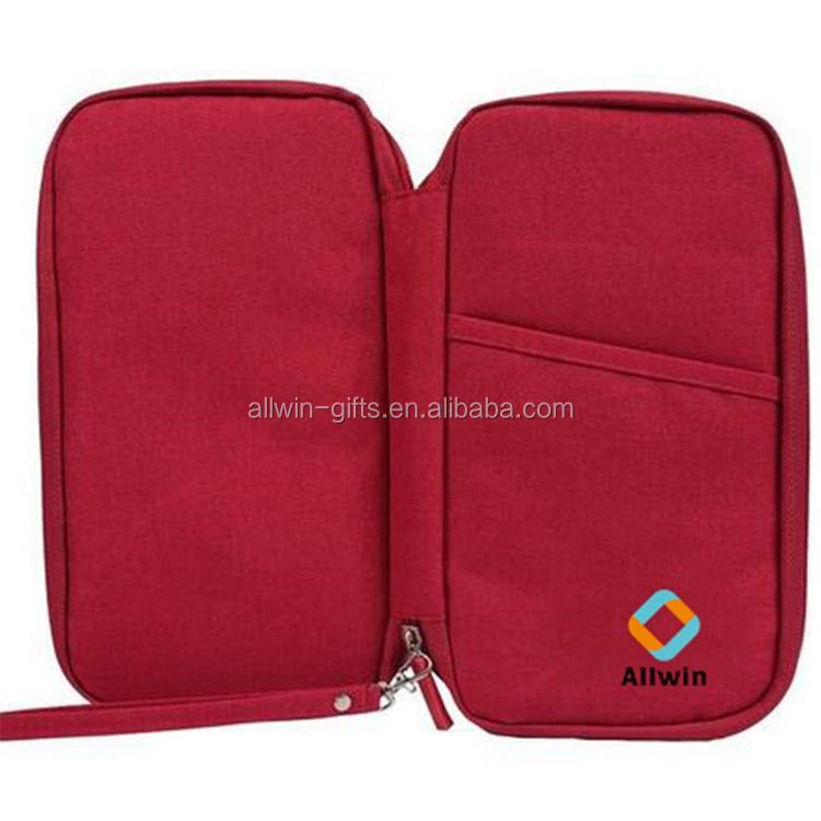 Rfid Blocking Organizer Travel Passport Wallet With Zipper Closure ...
