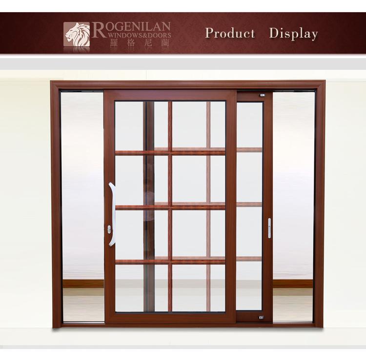 Rogenilan double pane balcony sliding tempered glass for Sliding glass doors germany
