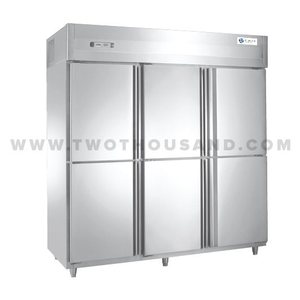 TT-VCR1550L6K Heavy Duty 6 Half Door Restaurant Kitchen Refrigerator
