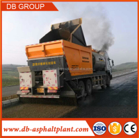 Asphalt Synchronous chip sealer, Distribute Bitumen And Aggregate ,chipping machine
