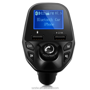 2018 New Handsfree Car Kit FM Transmitter Car MP3 Player with Dual Usb Port