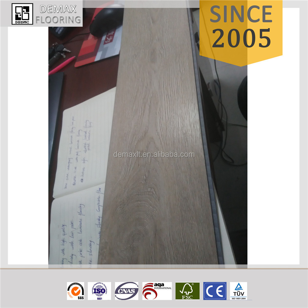 Indoor Wood Plastic Composite WPC Vinyl Flooring with Cork Back