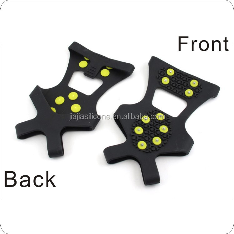 10 teeth rubber Anti Slip Ice Cleats Shoe Boot Grips climbing Crampons