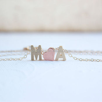 Necklaces tiny alphabet letter love couple pendants designs for necklaces tiny alphabet letter love couple pendants designs for women lovers gift in gold alloy mozeypictures Images