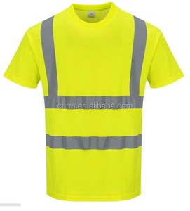 Wholesale 2018 new 100% polyester knitted high visibility safety T shirts