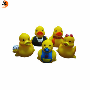 High quality floating rubber duck family bath toy set