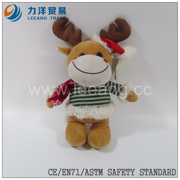 unstuffed toys plush toy skin without filling(christmas gift)plush cow reindeer duck etc
