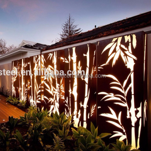 Decorative laser cut metal screen panel room dividers