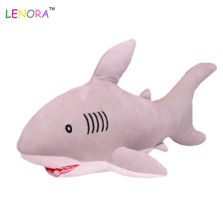 Wholesale Custom Soft Blue Shark Stuffed  Plush Toy Shark  Pillow  Sea Animal Plush Toy Children  Gift Home  Car decoration