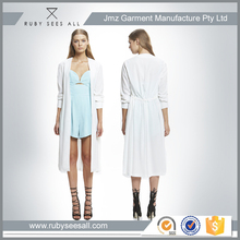 polyester white fashion lady coat night comes cover ladies long coat design from Australia