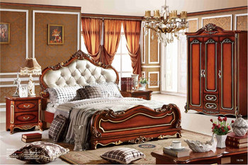 Expensive Bedroom Furniture Royal Villa Furniture Set Red Color Adult Bedroom  Set