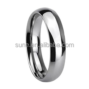 Bali Indonesia Jewelry Silver Domed Shiny Polished Tungsten Carbide