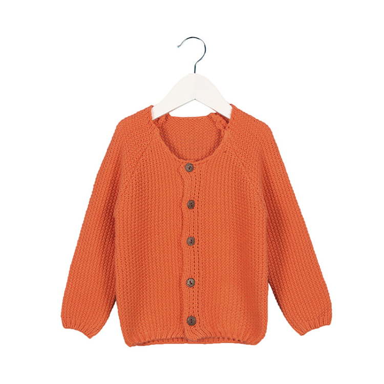 Candy Color Children Cardigan Sweater Fashion Baby Coat Spring Autumn Long Sleeve Knitwear Sweaters Outerwear