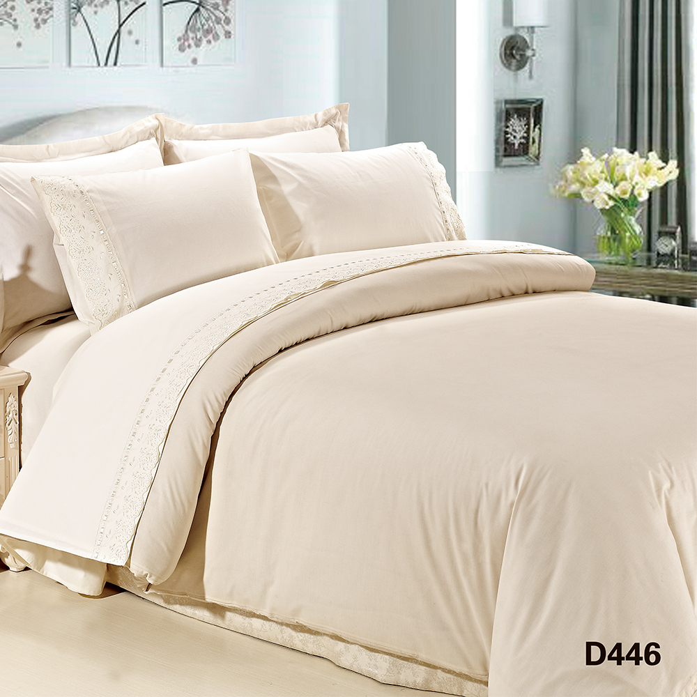 Kosmos elegant cotton embroidery bed duvet cover comforter sets luxury bedding