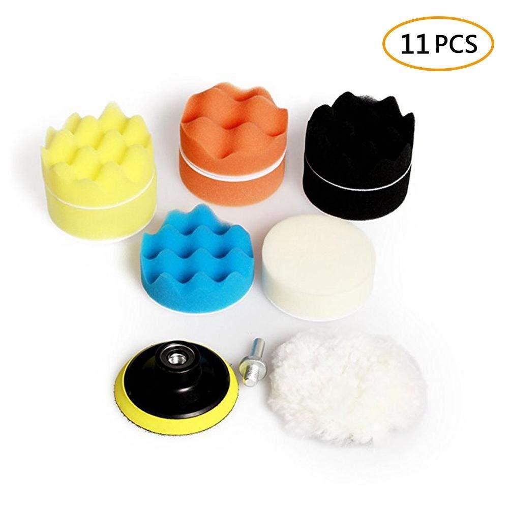 New Fashion 15 Pcs 80mm Buffing Polishing Sponge Pads Kit For Car Polisher Buffer New High Resilience 3inch