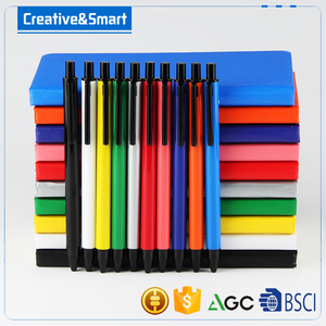 OEM promotional novelty pen school notebook with elastic band