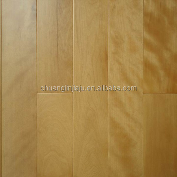 Traditional wire brushed Chinese birch industrial hardwood flooring