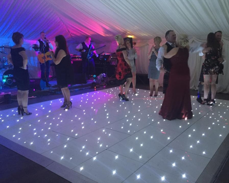 wedding dj disco stage show equipment white and black led dance floor panels