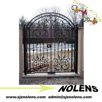 Wrought Iron Gate Garden Gates Annual Promotion Front Door Prices Supplier Used