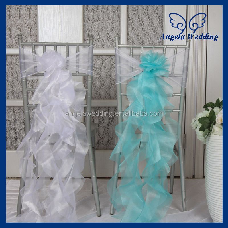 ch098d wholesale cheap fancy turquoise white organza