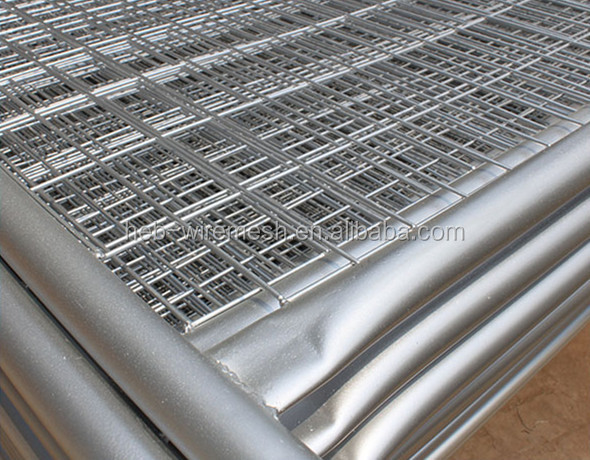used temporary construction fence panels galvanized hot sale