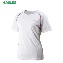 Anti-Pilling white dri fit 100% polyester quickdry women running t-shirt