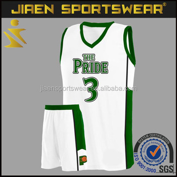 83921e2f17ea green and white basketball uniform design wholesale youth basketball jerseys  and shorts