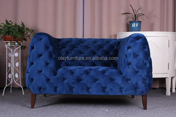 Dubai Sofa Furniture Living Room Velvet Chesterfield Sofa Modern Blue  Velvet Chesterfield Sofa