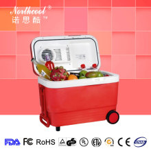 widely used wheel small portable wood mini fridge