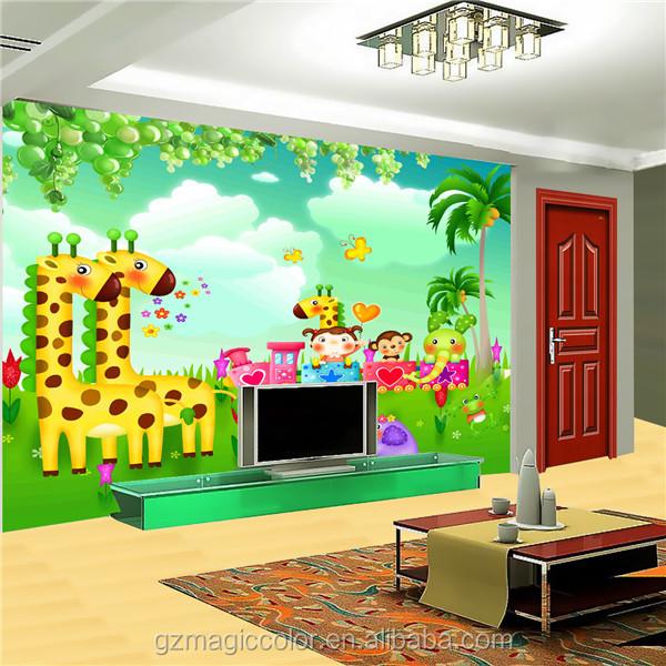Decorativo lindo zoo animales paisaje imagen murales de for Cuanto cobrar por pintar un mural